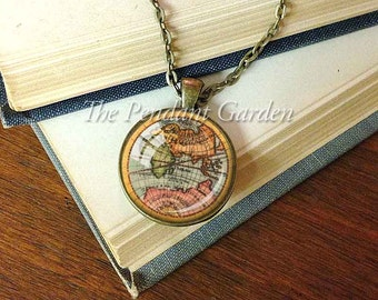 Etsy your place to buy and sell all things handmade vintage map pendant old world map necklace cartography pendant map geographer gift jewelry travelers gift map lovers gift gumiabroncs Gallery