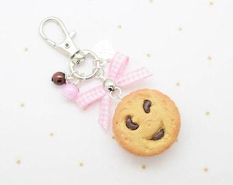 chocolate cookie keychain