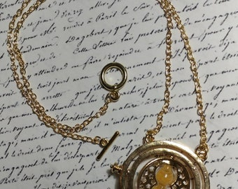 Rotation of time 18K Gold filled: 360 Rotating Necklace