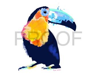 Toucan Watercolor || Toucan Art || Tropical Bird || Watercolor || Bird Watercolor