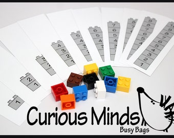 PDF FILE - You Print - Counting with LEGOS - Busy Bag