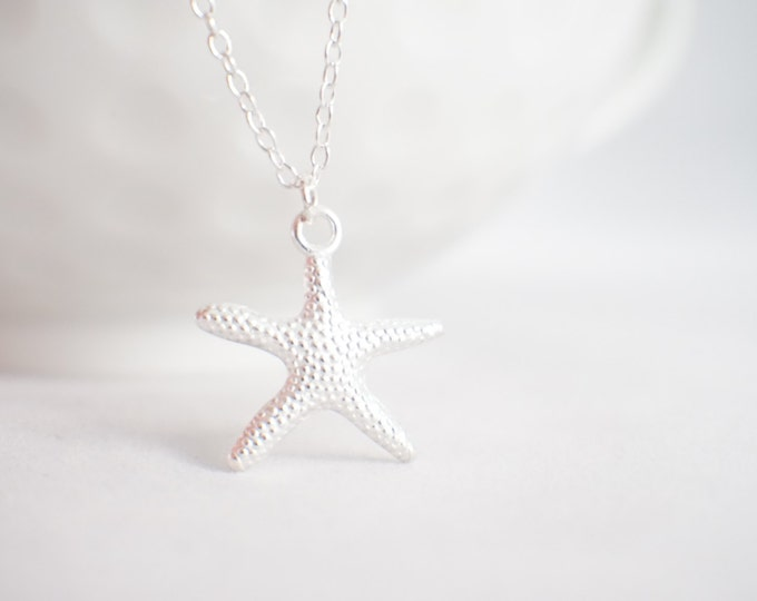 Starfish necklace - starfish pendnat - star fish jewelry - star fish - sea jewelry - beach jewelry - gift for her - beach lover