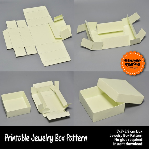Jewelry Box Printable Pattern Packaging Gift Box Ready To Use