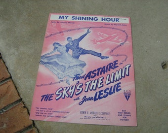 1943  vintage sheet music ( My Shining hour  ) Fred Astaire