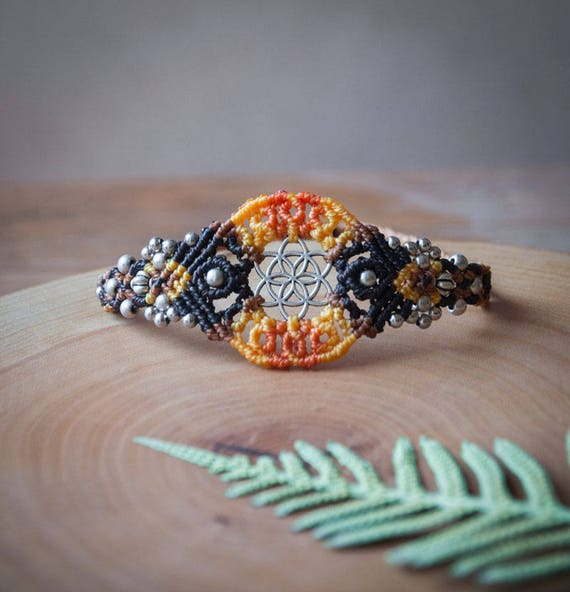 Svadhisthana seed of life bracelet