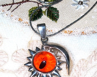 You are my sunshine, my only sunshine! Amber, silver, pendant, necklace,vintage, hand made, genuine, designed