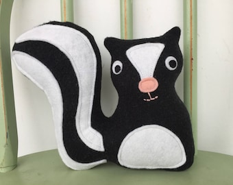 Woodland Skunk Softie Toy, Perfect for Nursery!