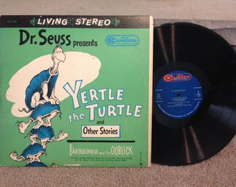 Dr. Seuss Yertle the Turtle, Bartholomew and the Oobleck LP, RCA Camden