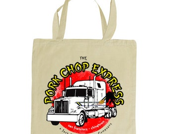 PORK CHOP Express tote bag, Inspired by the 1986 film Big Trouble in Little China