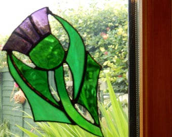 Stained Glass Scottish Thistle - made in Scotland