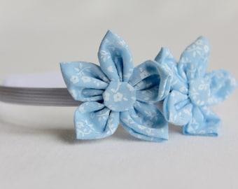 Floral Headband, Bow Headband, Blue Headband, Flower Headband, Bow Headband, Alice Band, Toddler Headband, Girl Headbands, Adult Headband