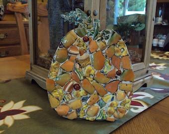 Whimsical OOAK Mosaic Pumpkin