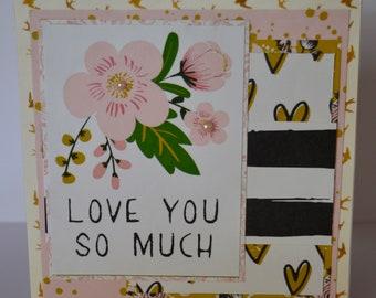 Handmade Greetings Card - Love You So Much