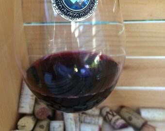 Blue Wine Glass Marker