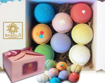 Bath Bomb Mother's Gift Set - 8 Luxurious, Spa Bath Bombs in Beautiful Upscale Box and Bow, Ready To Give.