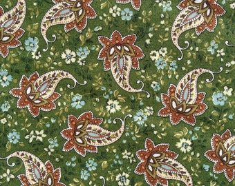 Sale - Half Yard of Fabric - Fall Paisley