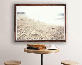 Modern Beach Print, Wall Art Coastal, Coastal Art Decor, Beach Photo, People Scene, Wall Art Print, Beach Decor, Beach Photography, Digital