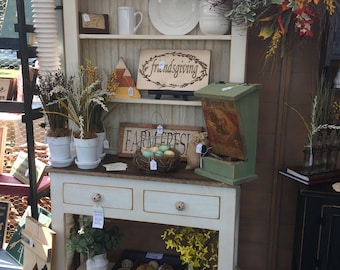 Amazing Hutch, China, FREE SHIPPING, Shabby Chic, Cottage Chic, Distressed, Country