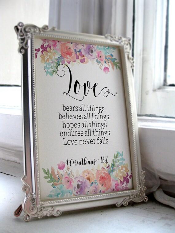 Printable Wedding Sign Bible Verse Printable Art Wedding Quote