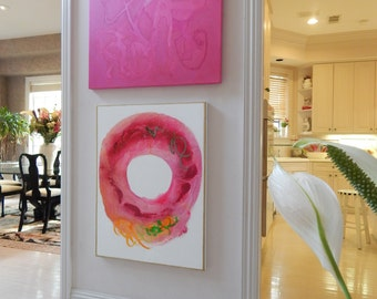 BOTH SOLD!!!  Huge Original Abstract Paintings by Pamela Qarbaghi  SOLD!!!
