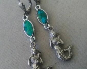 Mermaid Leverback Earrings