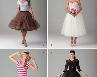 Simplicity Sewing Pattern 1427 Misses' Tulle Skirt in Three Lengths