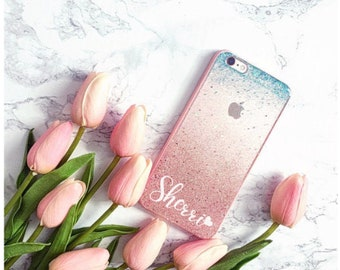 mermaid Rose gold glitter Phone case iPhone 7 case iPhone 7 Plus case iPhone 6s case iPhone 8 case iPhone 8 Plus case iPhone x case