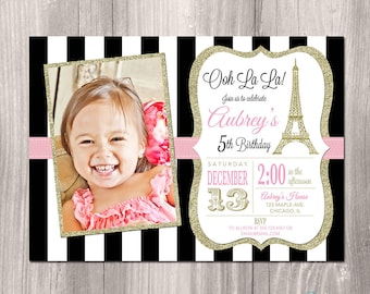 Paris invitation eiffel tower invitation paris birthday paris invitation eiffel tower invitation paris birthday invitation printable paris invitation ooh la la french theme party paris party filmwisefo