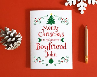 boyfriend christmas card gift for boyfriend romantic christmas christmas boyfriend card boyfriend xmas card christmas love - Boyfriend Christmas Card