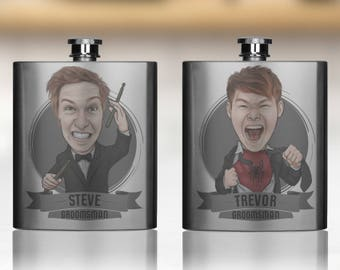 Personalized Flasks For Groomsmen, Best Man Flasks, Mens Flasks, Wedding Flasks, flask alcohol, Stainless Steel Hip Flask, Rehearsal
