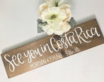 Save The Date - Wood Sign