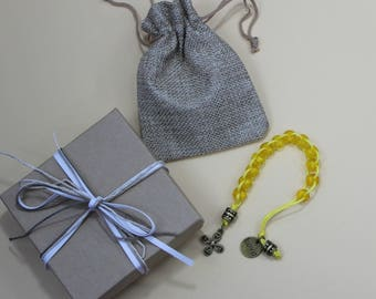 Good Deed Beads: Cross Collection - Brass Cross and Love Charm
