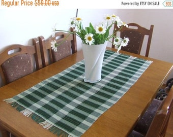 ON SALE Green table runner handwoven table cloth home decoration table decor table centre piece gift ideas lace green decor kitchen decor