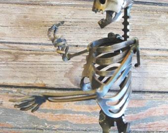 Zombie Skeleton Conversationalist Steel Sculpture