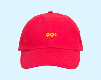 Tumblr Dad Hat, Pizza, Food, Pizza Party, Cool Dad Hats, Aesthetic Clothing, Tumblr Hat, Summer Hat, Beach Hat, Red Dad Hat, Red Cap