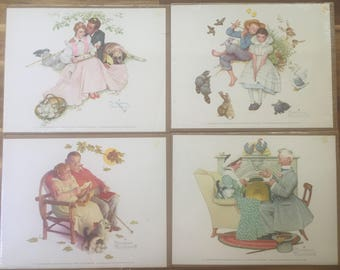 Norman Rockwell Four Ages of Love 1955 Litho