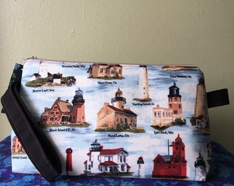 Large Project Bag- Lighthouses