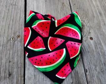 Sweet Dog bandana, Big Watermelon Dog bandana, Dog gift, Pet neckwere, Dog neckwere