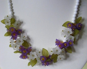 Snowdrop and Crocus Necklace