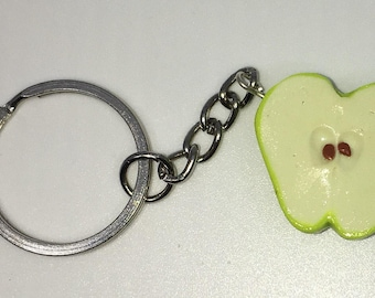 Apple Key Chain Vegan Vegetarian Fruit Keychain