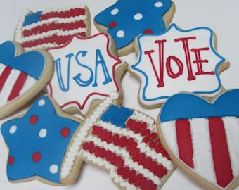 4th of July Cookie favors, Independence Day. Patriotic Cookies