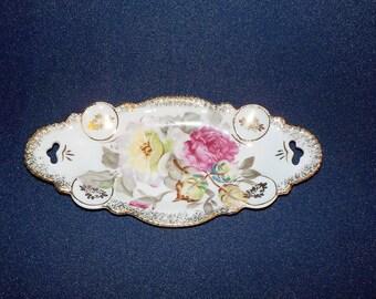 Vintage Oval Porcelain Tray or Dish, Dresser Dish, #6C43, Lefton?