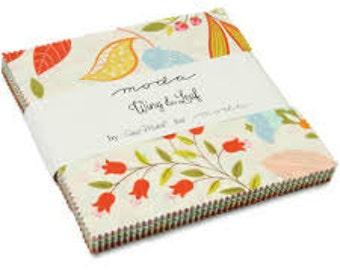 Wing & Leaf Charm Pack Gina Martin  Moda Pre-cut Fabrics Sale!!!