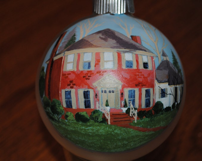 Nice Christmas Ornament Hand Painted Home custom ornament done from picture  -SOLD