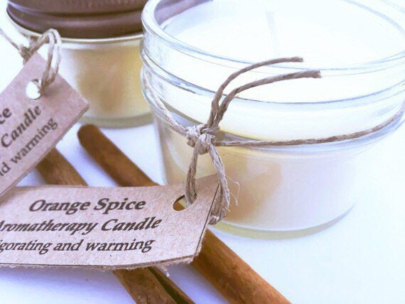 Orange Spice Soy Candles - Handmade Candles