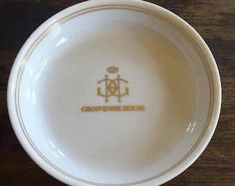 Grosvenor House Vintage Hotel Ashtray / London, England / Chinacraft