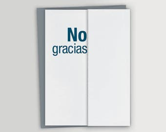 No Gracias Thank You Card
