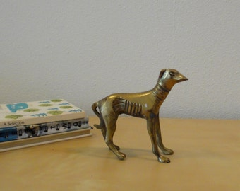 Vintage Brass Greyhound Dog Figurine