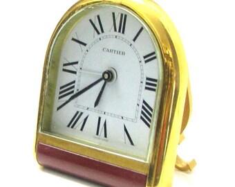 CARTIER romance vintage travel or desk clock