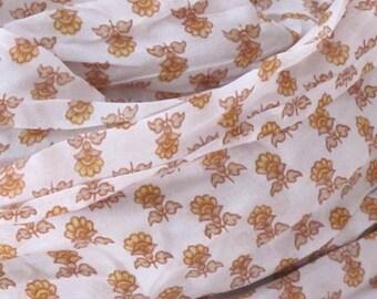 Handprinted silk Flower Scarf